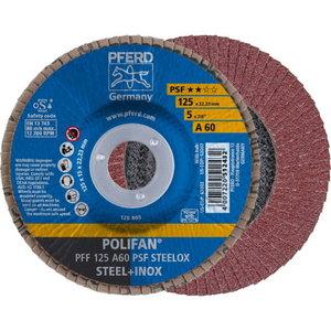 Lameļu slīpdisks 125mm A60 PSF PFF POLIFAN plaknēm, Pferd