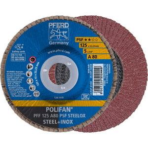 Lameļu slīpdisks 125mm A80 PSF PFF POLIFAN plaknēm, Pferd