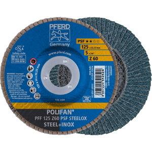 Lameļu slīpdisks 125mm Z60 PSF PFF POLIFAN plaknēm, Pferd