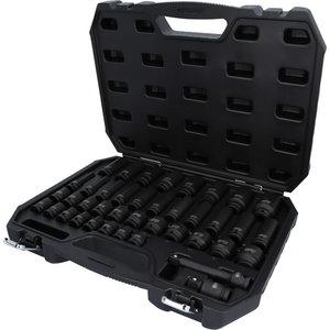 Impact socket set 1/2´´, long and short, 40pc, 9-30mm, KS Tools