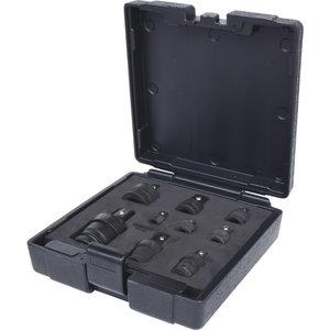 Löökadapterite ja kardaanide kmpl 1/4+3/8+1/2+3/4´´ 9-osa, KS Tools