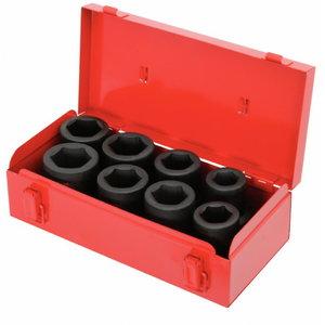 Impact socket set 1'' 27-38mm 8pcs, KS Tools
