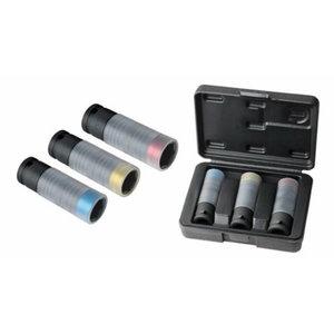 Impact socket 1/2'' set 17-19-21mm 3 pcs slimPOWER, KS Tools