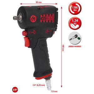 "3/8"" miniMONSTER High Performance Pneumatic impact wrench 1., KS Tools"