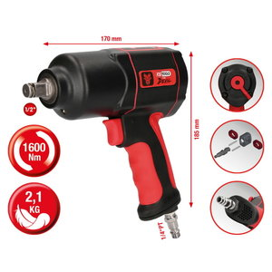 "1/2"" THE DEVIL high performance impact wrench, 1600Nm, KS Tools"