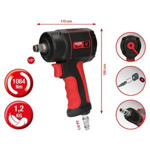 "High performance impact wrench 1/2""  miniDEVIL, 1084Nm, KS Tools"