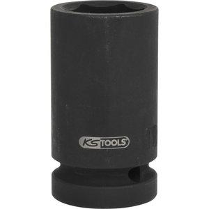 """Hex impact socket, deep 1"""" 27mm, KS Tools"""