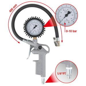 Rattapump koos kalibreeritud nihikuga 0-12bar, KS Tools