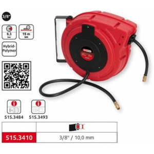 Automatic compressed air hose reel 10mmx15m 3/8´´, KS Tools