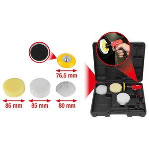 Mini pneumatic burnisher set, 5 pcs, KS Tools