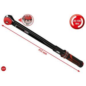 "ERGOprec torque wrench,mushroom head 1/2"", 20-100Nm, KS Tools"