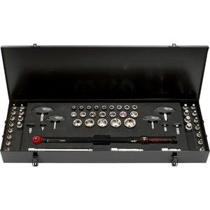 """1/2"""" ERGOTORQUEprecision torque wrench toolkit 52 pcs, KS Tools"""