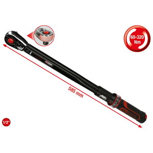 "1/2"" ERGOTORQUE®precision torque wrench with reversible ratc, KS Tools"