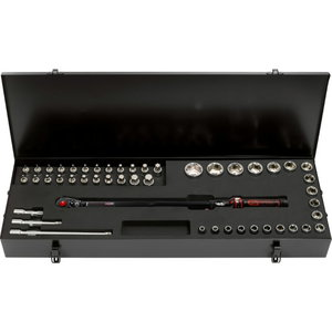 """1/2"""" ERGOTORQUEprecision torque wrench toolkit 48 pcs, KS Tools"""