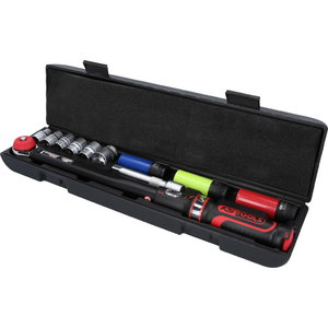 Torque wrench set ERGOTORQUE, 1/2´´, with sockets, 20-200Nm, KS Tools