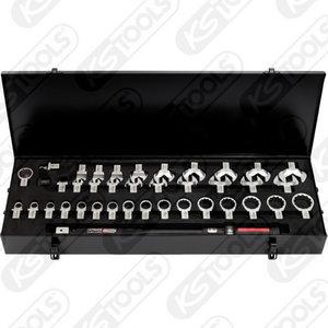 Dinamometrinių raktų kompl14x18mm  ULTIMATEprecision, 39 vnt, KS tools