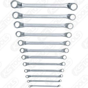 CLASSIC Double ring spanner set, offset, 12 pcs 6-32mm, KS Tools