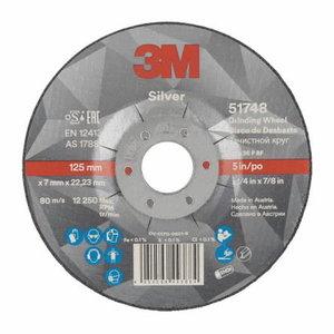 3M Ceramic Grinding Wheel Silver T27 127x7x22,23mm, 3M