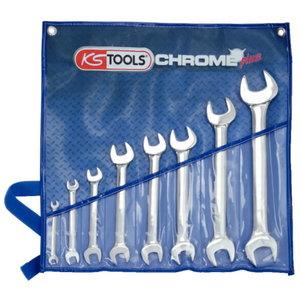 CHROMEplus Double open ended spanner set, 8 pcs, KS Tools