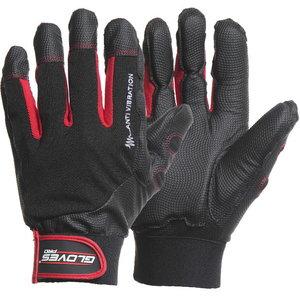 Pirštinės, antivibracinės, minkštos pagalvėlės, Black VIBRO 10, Gloves Pro®