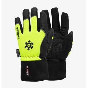 Pirštinės PU delnas, spandekas, platus riešas, Black Winter 9, Gloves Pro®