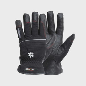 Pirštinės PU delnas, viršus  iš spandekso, Black Star 8, Gloves Pro®