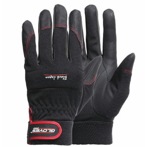 Cimdi, montāžas darbu veikšanai, Black Japan, melni 8, Gloves Pro®