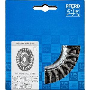 Wheel brush 125x12x22,23mm ST 0,50mm RBG, Pferd