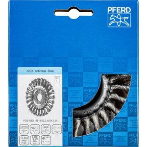 щётка дисковая-p 125x12x22мм INOX0,35 RBG, PFERD