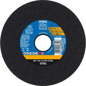 Cut off wheel 125x1,6mm PSF STEEL, Pferd