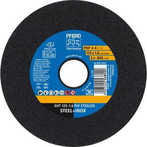 Cut off wheel PSF STEELOX 125x1,6mm, Pferd