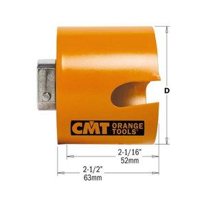 Gręžimo karūna HW H=52 D=25 RH medis, plastikas, CMT