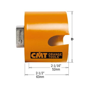 HOLE SAW FOR WOOD/PLASTIC HW H=52 D=40 RH, CMT