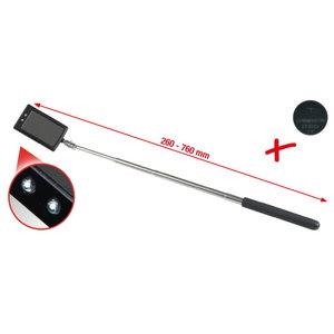 Teleskoobiga LED valgustusega peegel 260-760mm, 50x80mm, KS Tools