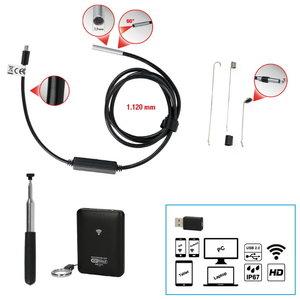 Wi-Fi inspekcijas kamera 3.9 mm 0° priekšējā kamera, 7, KS Tools