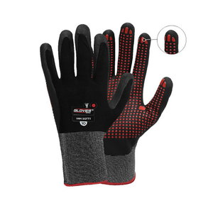 Cimdi, putots Nitrils,Punktota plaukstas daļa,Grips Dotty, Gloves Pro®