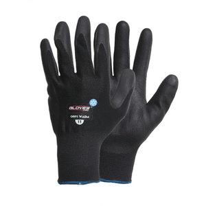 Talvekindad, krobeline nitriil, poolsoe vooder, Grips WARM, Gloves Pro®