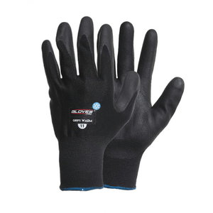 Cimdi, nitrila plauksta, deļēji oderēti, Grips WARM, ziemas 9, Gloves Pro®