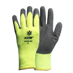 Kindad, veekindel lateks, käeselg HiViz, WINTER Grip 10, Gloves Pro®