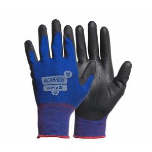 Kindad, Lycra kinnas, PU kattega peopesa, Grips AIR 10, Gloves Pro®