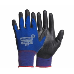 Kindad, Lycra aluskinnas, PU kattega peopesa, Grips AIR 9, Gloves Pro®