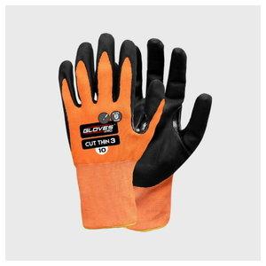Kindad, lõikekindel klaaskiud, klass B,  PU peopesa 9, Gloves Pro®