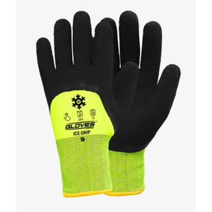 Cimdi, vinila putu cimdi Ice Grip, melni, ziemas 10, Gloves Pro®