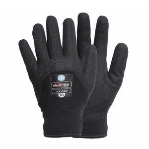 Kindad, 3/4 vahtvinüül, ülipehme vooder, Ice Grip, must 8, Gloves Pro®