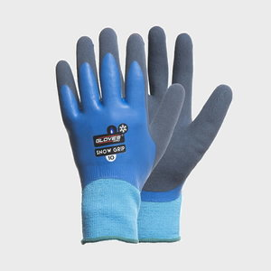 Gloves, double latex, 3/4 back, soft lining, Snow Grip 10, Gloves Pro®