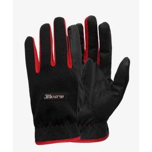 Cimdi, mīksta PU plaukstas daļa, RED 1 8, Gloves Pro®