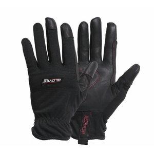 Kindad, kitse pealisnahk, polüester käeselg, MECH PLUS 9, Gloves Pro®