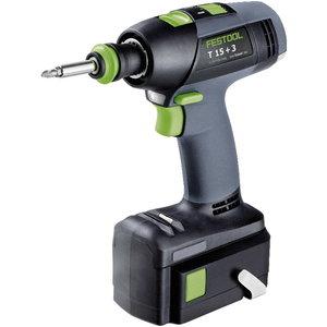 Cordless drill T 15 +3 Li Plus / 14,4V / 5,2Ah, Festool