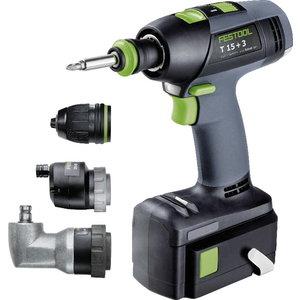 Cordless Drill  T 15+3 Li 5,2-Set, Festool
