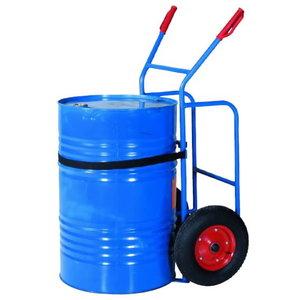 Drum truck  BTS, capacity 250kg,wheels-pneumatic rubber, Intra